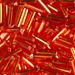 Silver-Lined Orange-Red 6mm Bugle Beads (Miyuki)