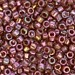 Gold Red Luster Miyuki Delica Beads (size 11)