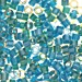 Green/Blue Lined Mix Miyuki Delica Beads (size 11)