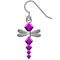 Swarovski Dragonfly Earrings Step 4
