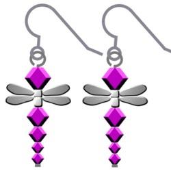 Swarovski Dragonfly Earrings Step 5