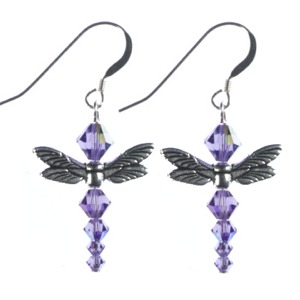 Swarovski Dragonfly Earring Project