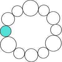 Colour wheel with monochromatic colour scheme