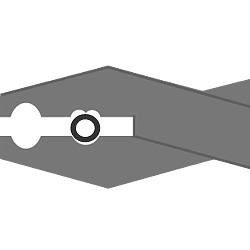 diagram of a crimp beads in the jaws of a pair of crimping pliers.