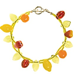 Finished Summer Fruit Bracelet