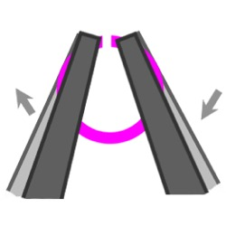 diagram of how to open a jump ring.